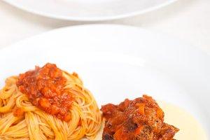 ribs and pasta