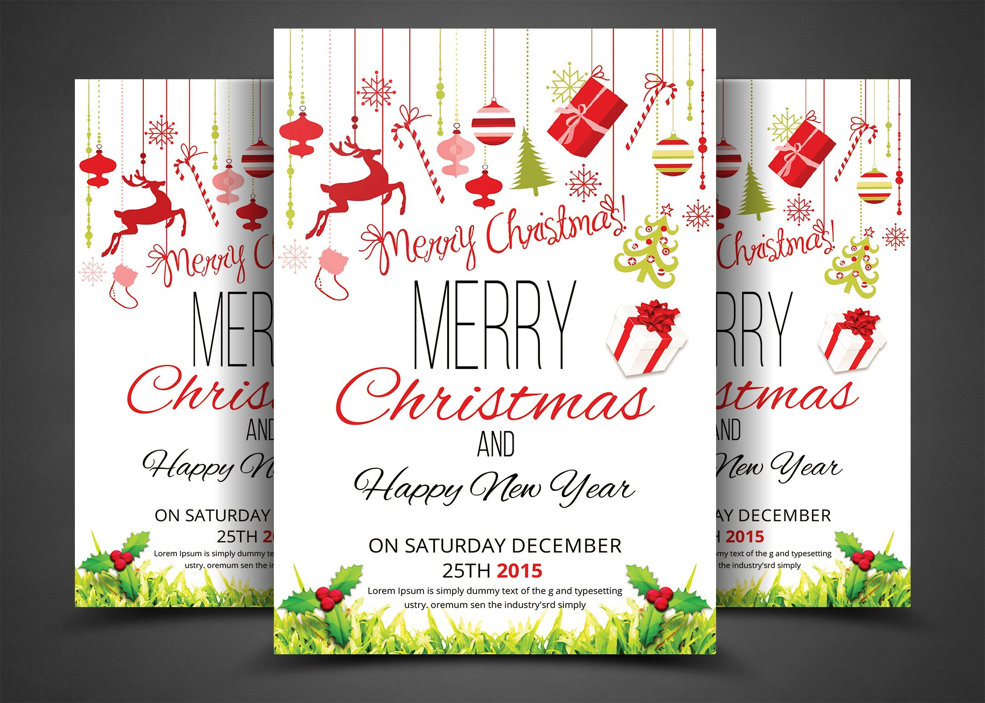 Christmas Party Flyer & Invitation ~ Flyer Templates ~ Creative Market