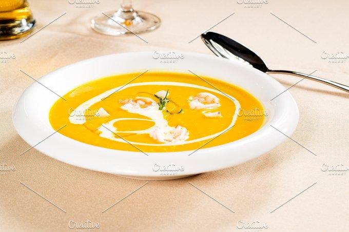 pumpking and shrimps soup 05.jpg - Food & Drink