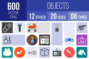 600 Objects Icons