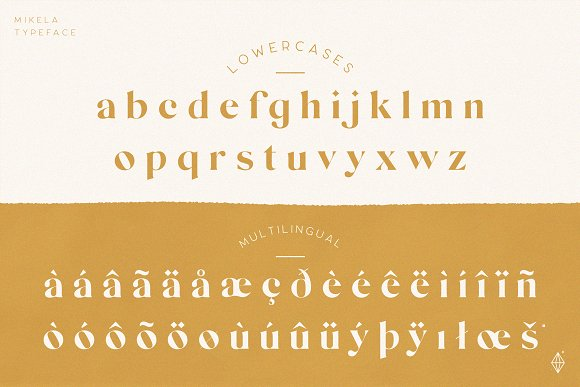 Mikela - 50% OFF Gorgeous Typefaces in Serif Fonts - product preview 1
