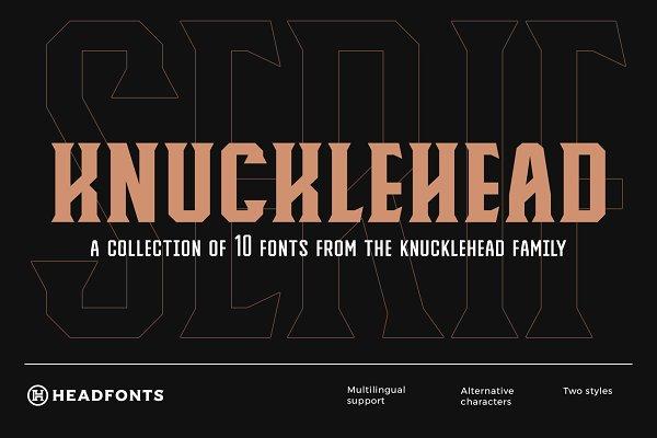 Knucklehead Serif | Vintage Font
