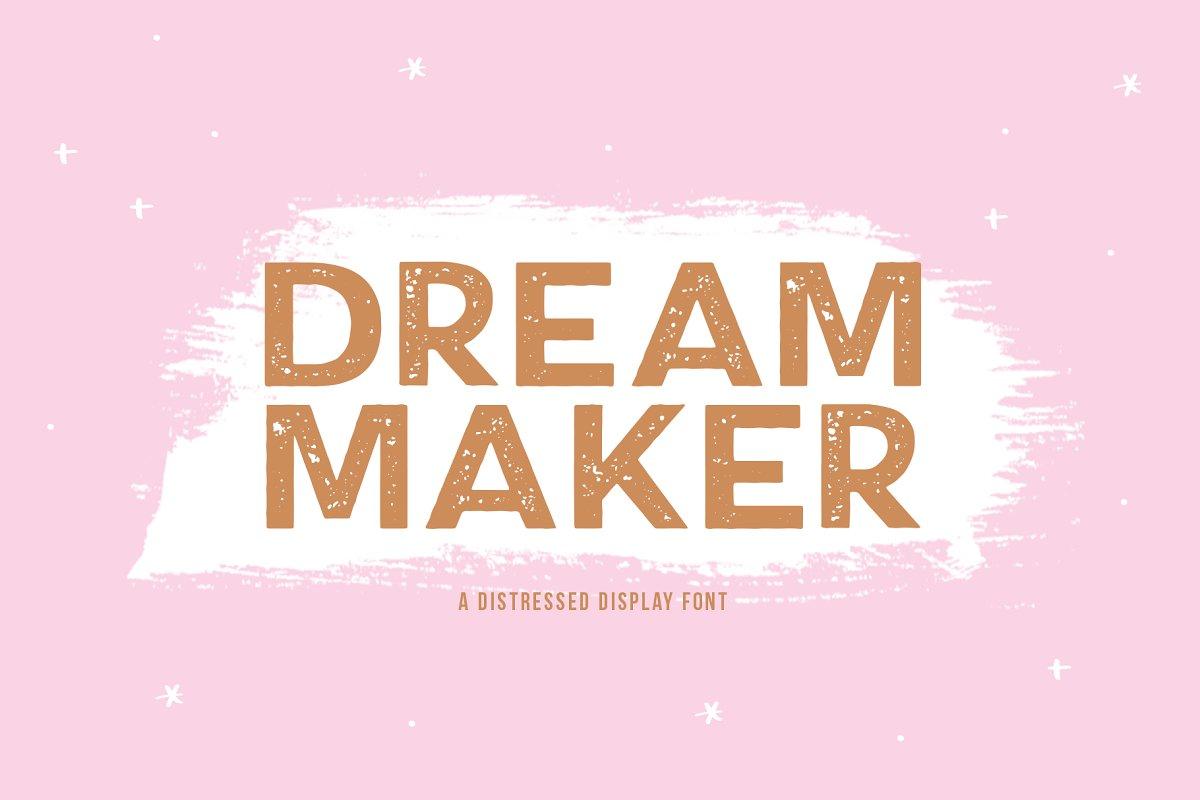 Dream Maker | Distressed Font
