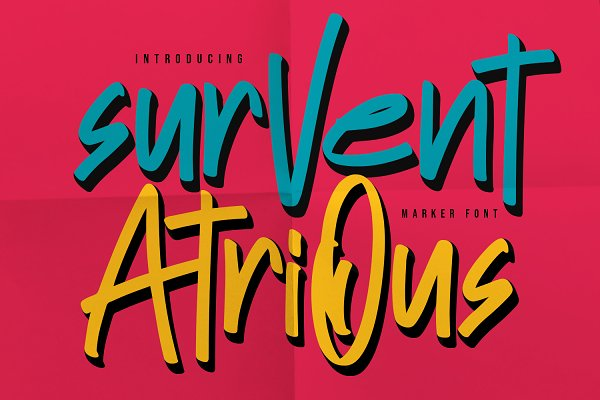 Survent Atrious Marker Font