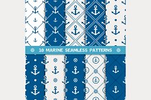 Vector seamless pattern with anchor