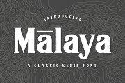 Malaya - A Classic Serif Font