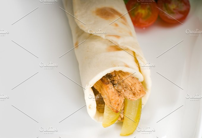 pita bread chicken roll 3.jpg - Food & Drink
