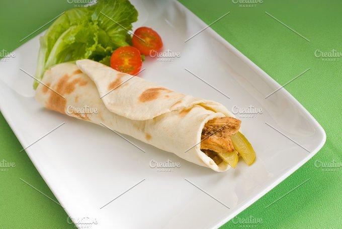 pita bread chicken roll 8.jpg - Food & Drink