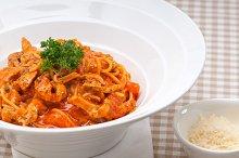 pasta spaghetti chicken tomato home style 02.jpg