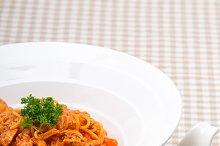 pasta spaghetti chicken tomato home style 06.jpg