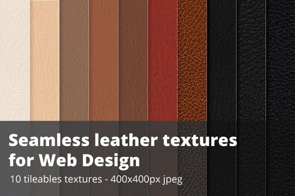 Seamless leather swatches - Jpg + i…