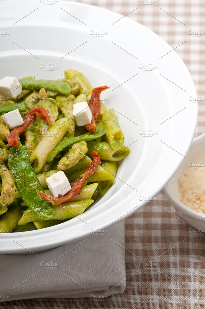 pasta penne pesto chicken and sundried tomatoes 05.jpg - Food & Drink