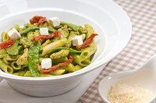 pasta penne pesto chicken and sundried tomatoes 08.jpg