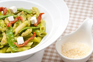 pasta penne pesto chicken and sundried tomatoes 15.jpg
