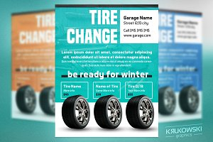 Tire Services Flyer Template