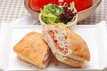 Parma ham cheese and tomato ciabatta sandwich 01.jpg
