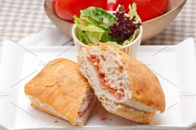 Parma ham cheese and tomato ciabatta sandwich 01.jpg - Food & Drink