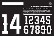 Rose Thorn Numeral Set