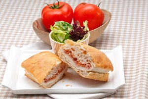 Parma ham cheese and tomato ciabatta sandwich 09.jpg
