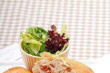 Parma ham cheese and tomato ciabatta sandwich 07.jpg