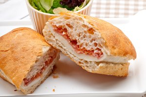 Parma ham cheese and tomato ciabatta sandwich 07.jpg
