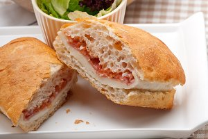 Parma ham cheese and tomato ciabatta sandwich 08.jpg