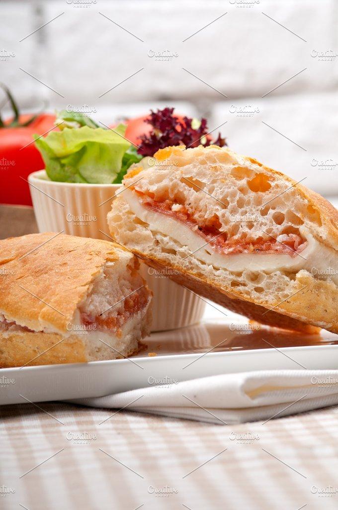 Parma ham cheese and tomato ciabatta sandwich 17.jpg - Food & Drink