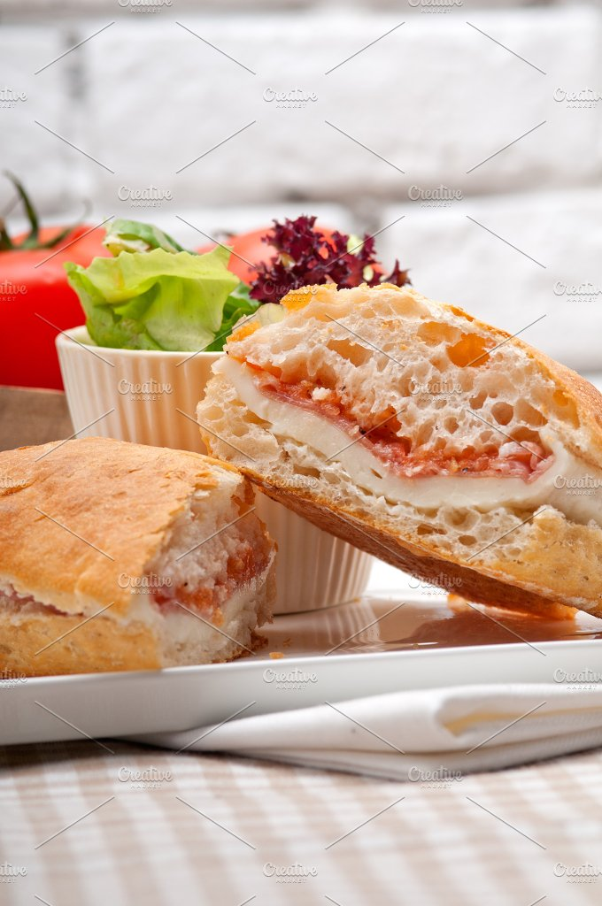 Parma ham cheese and tomato ciabatta sandwich 16.jpg - Food & Drink