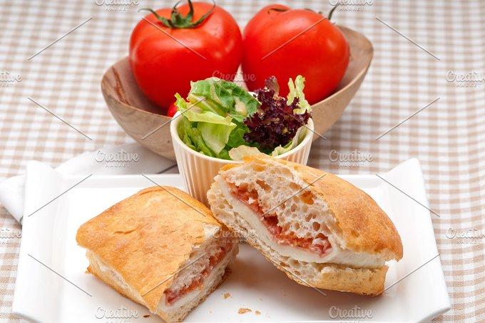 Parma ham cheese and tomato ciabatta sandwich 19.jpg - Food & Drink