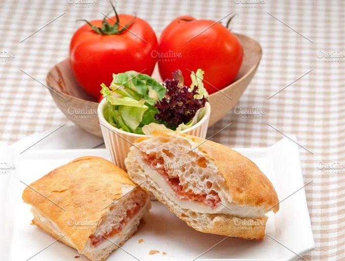 Parma ham cheese and tomato ciabatta sandwich 20.jpg - Food & Drink