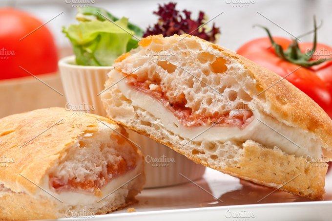 Parma ham cheese and tomato ciabatta sandwich 24.jpg - Food & Drink