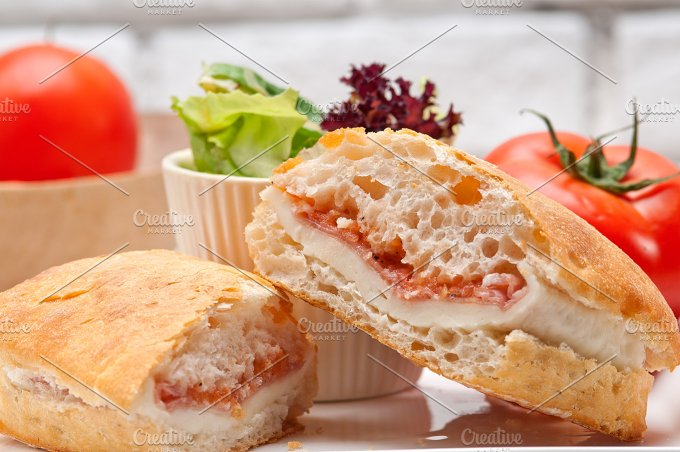 Parma ham cheese and tomato ciabatta sandwich 26.jpg - Food & Drink