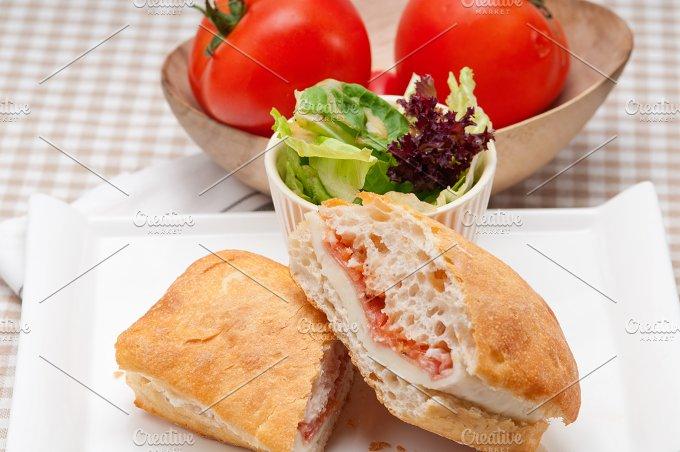 Parma ham cheese and tomato ciabatta sandwich 29.jpg - Food & Drink