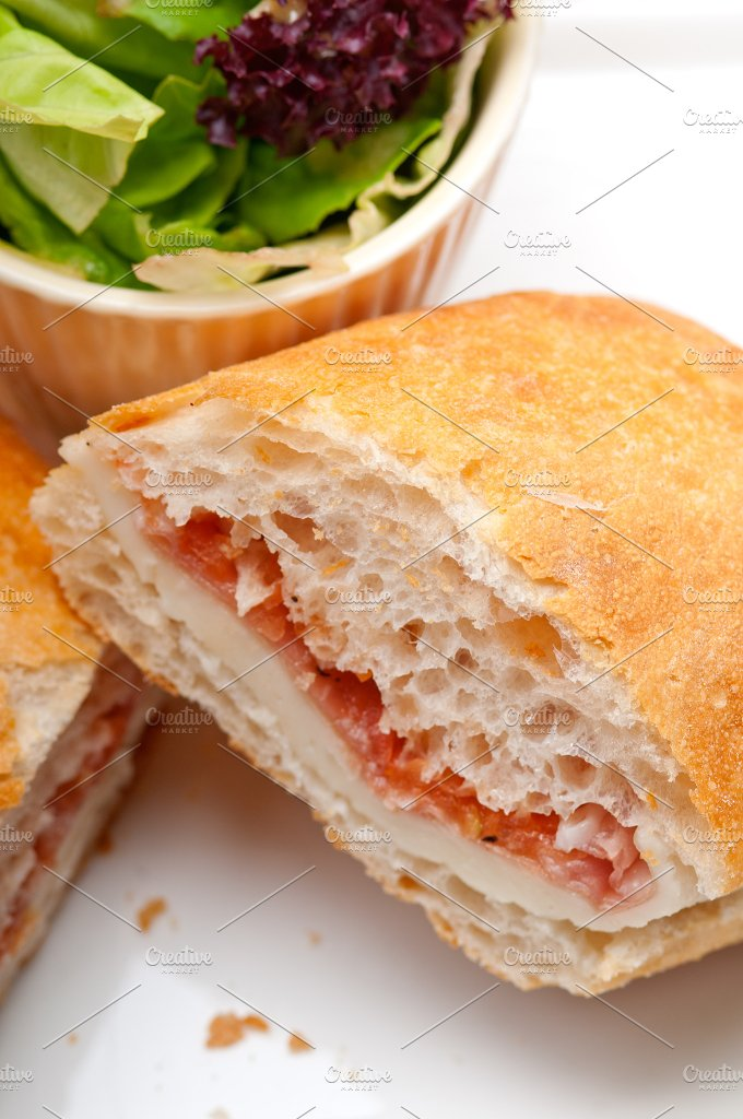 Parma ham cheese and tomato ciabatta sandwich 28.jpg - Food & Drink