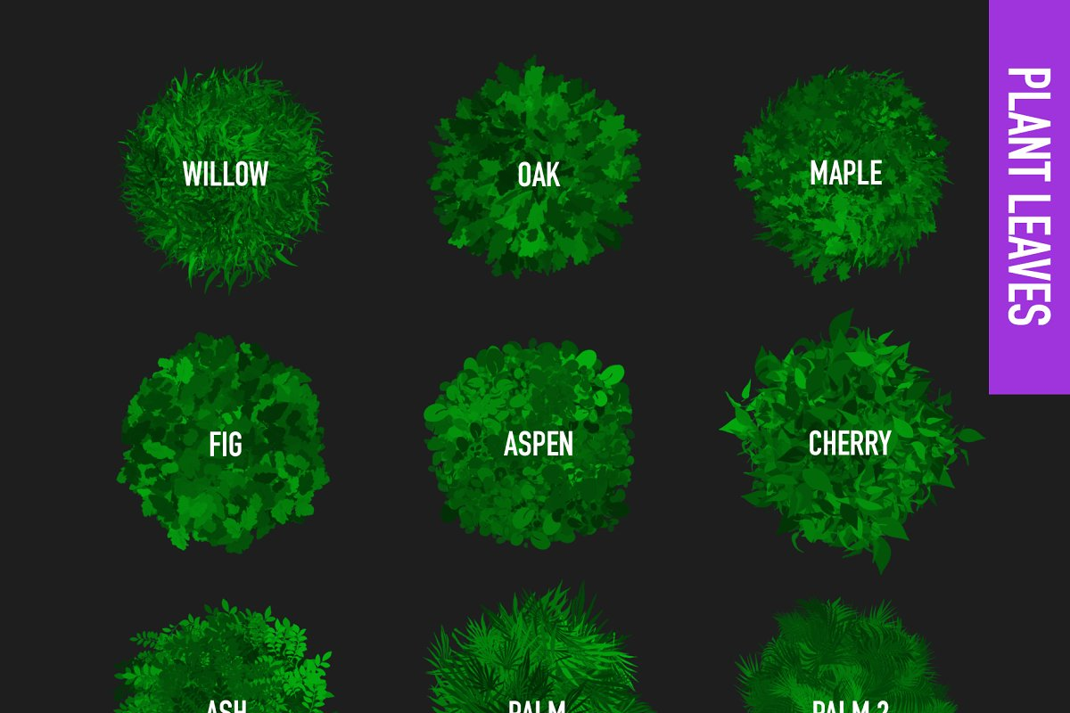 80 FOLIAGE BRUSHES FOR PROCREATE 5 in Add-Ons - product preview 1