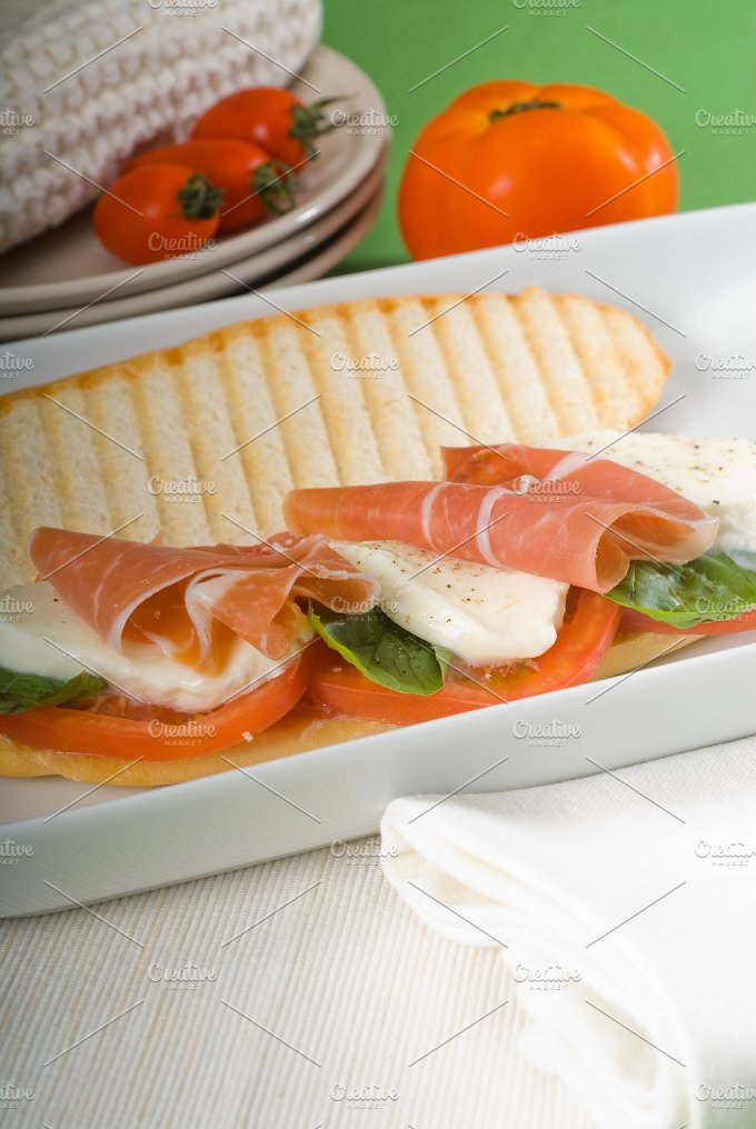 panini caprese and parma ham 7.jpg - Food & Drink