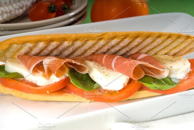 panini caprese and parma ham 2.jpg - Food & Drink