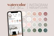 Blush & Green Instagram Cover Icons