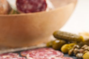 organic salame and pickles with pita bread 07.jpg