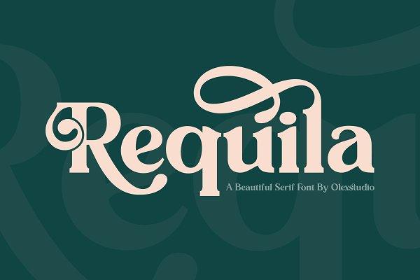 REQUILA - Vintage Font