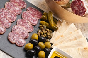 organic salame and pickles with pita bread 04.jpg