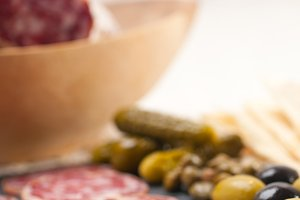 organic salame and pickles with pita bread 08.jpg