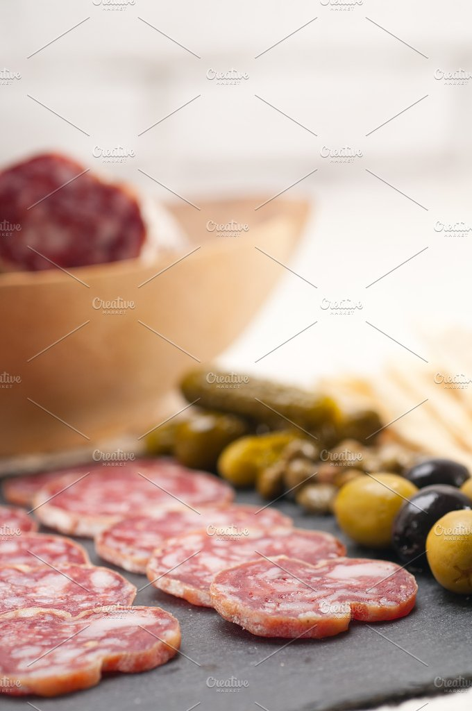 organic salame and pickles with pita bread 08.jpg - Food & Drink