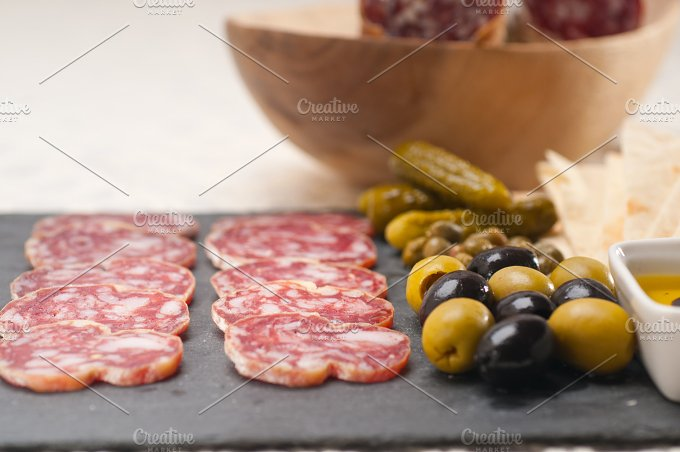 organic salame and pickles with pita bread 11.jpg - Food & Drink