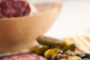 organic salame and pickles with pita bread 09.jpg