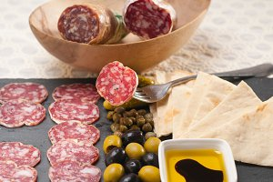organic salame and pickles with pita bread 13.jpg