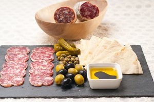 organic salame and pickles with pita bread 10.jpg