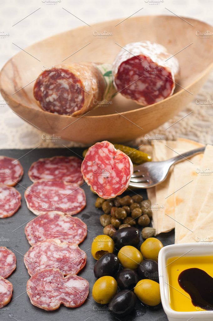 organic salame and pickles with pita bread 14.jpg - Food & Drink