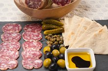 organic salame and pickles with pita bread 12.jpg