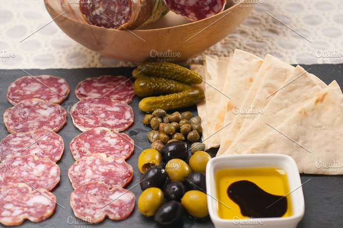 organic salame and pickles with pita bread 12.jpg - Food & Drink